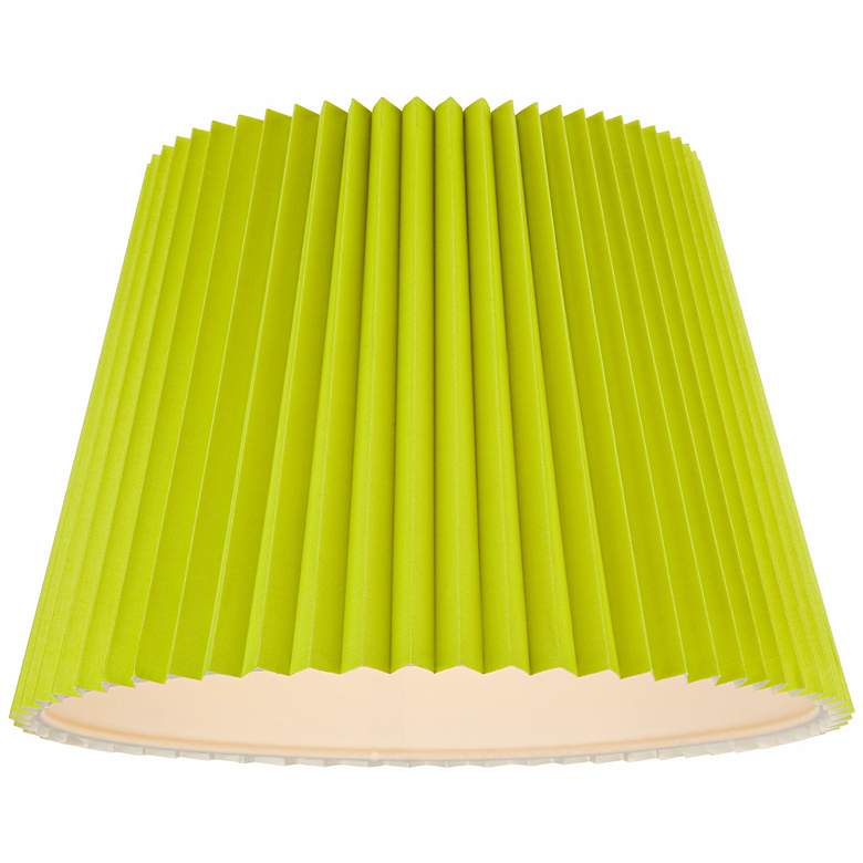 Lime Green Knife Pleat Empire Shade 11x16x11 (Spider) more views
