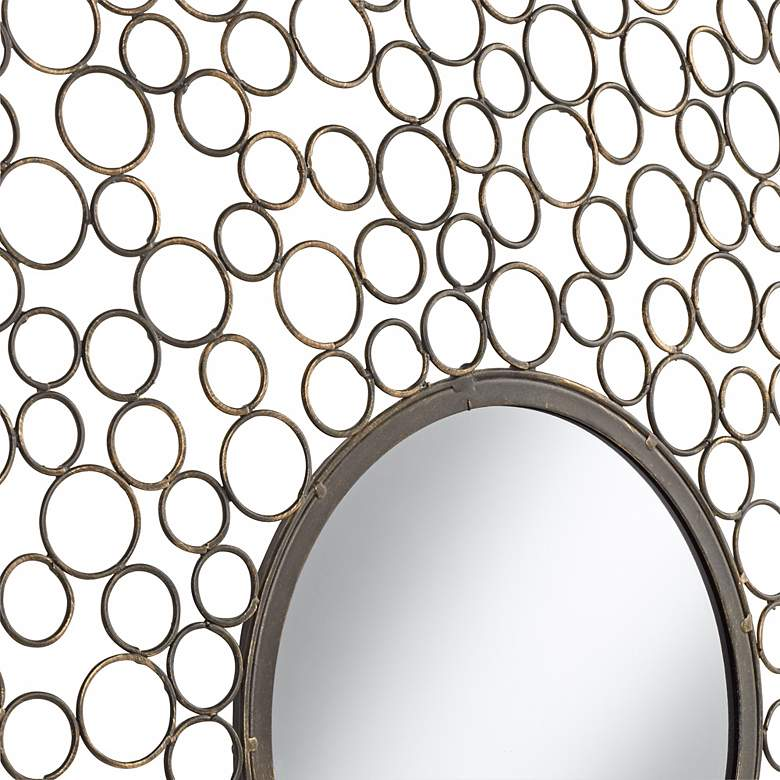 "Dotty Openwork Circles 30"" Wide Round Wall Mirror more views"