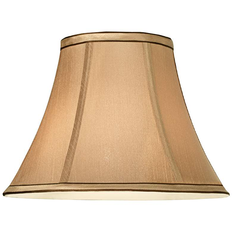 Springcrest™ Tan and Brown Trim Bell Shade 6x12x9 (Spider) more views