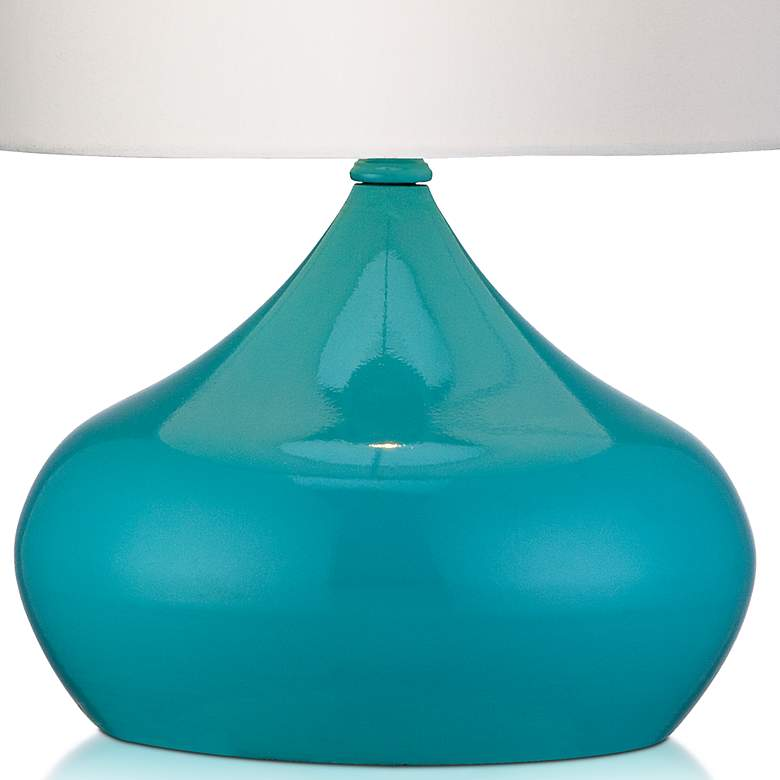 "Steel Droplet 14 3/4""H Teal Blue Small Accent Lamps Set of 2 more views"