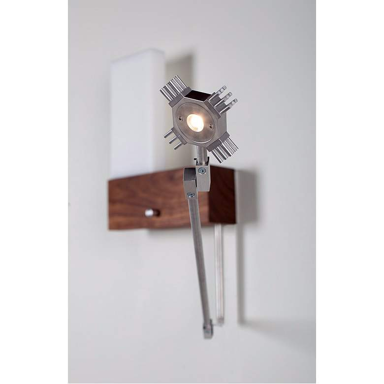 "Cerno Cubo Left-Hand Hardwire 9"" Wide LED Wall Sconce more views"