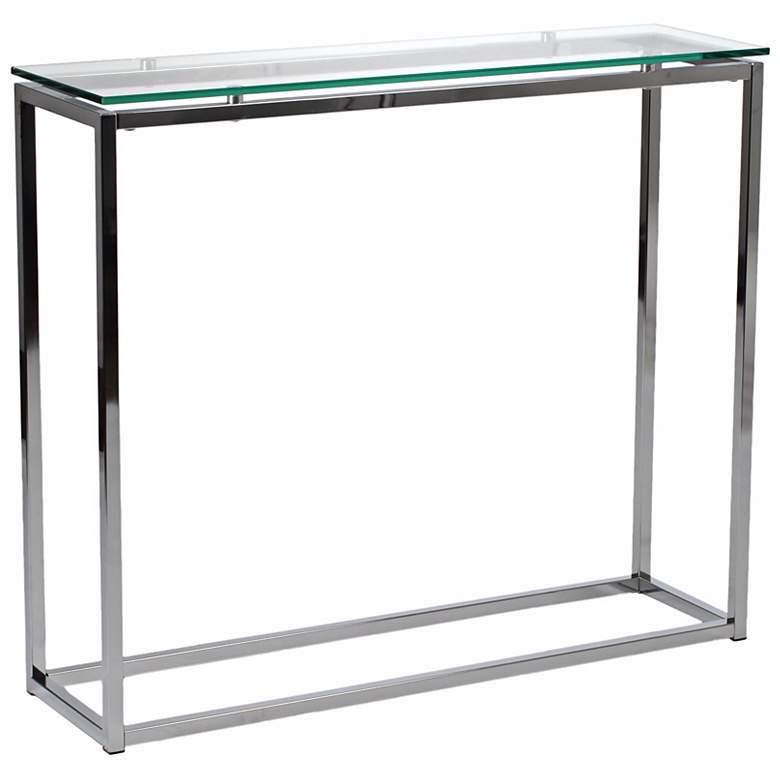 "Sandor 36"" Wide Clear Glass Modern Console Table more views"