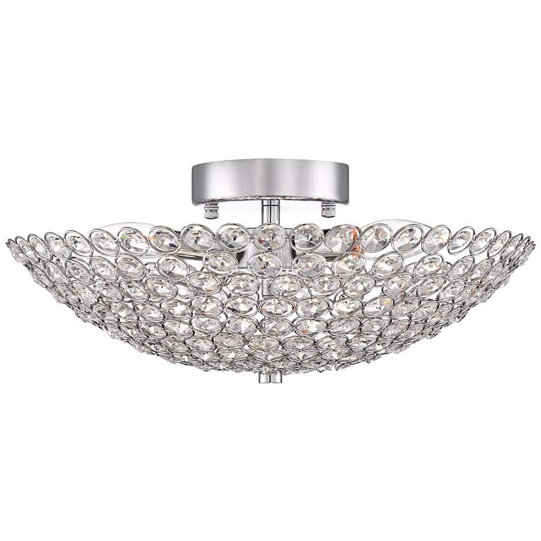 "Possini Euro Design Geneva 16"" Wide Crystal Ceiling Light more views"