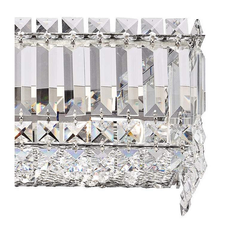 "Possini Euro Crystal Columns 23"" Wide Chrome Bath Light more views"