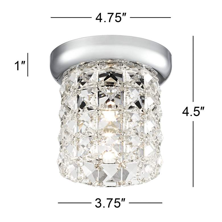 "Cesenna 4 3/4"" Wide Crystal Ceiling Light more views"