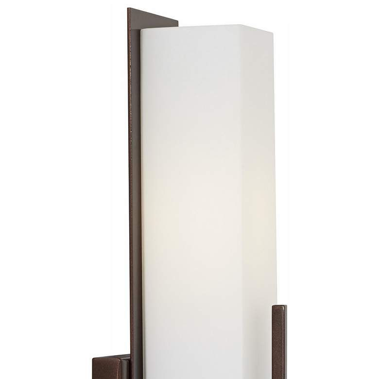 "Possini Euro Midtown 15"" High White Glass Bronze Wall Sconce more views"