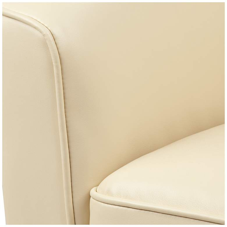 Keller Ivory Bonded Leather Swivel Club Chair more views