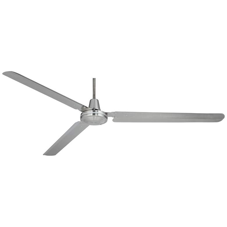 "72"" Casa Velocity Brushed Nickel Damp Rated Large Ceiling Fan more views"