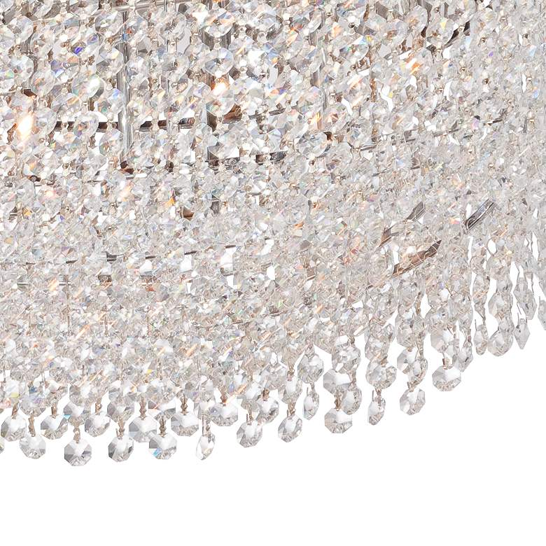 "Adali Curve 25 1/2"" Wide Clear Crystal Pendant Chandelier more views"