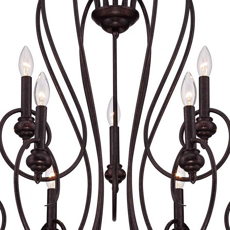 "Channing 9-Light 30 1/2"" Wide Bronze Scroll Chandelier more views"