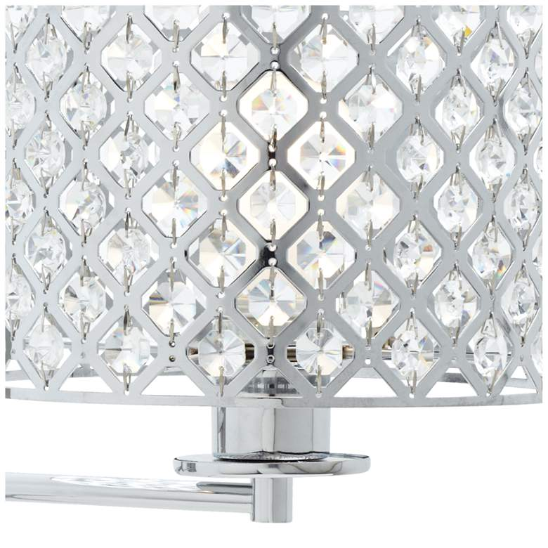 "Possini Euro Glitz 9"" Wide Plug-In Swing Arm Wall Lamp more views"