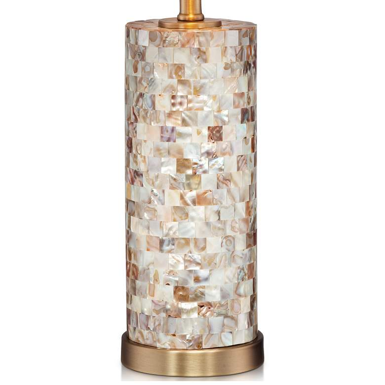 Margaret Mother of Pearl Tile Cylinder Table Lamp more views