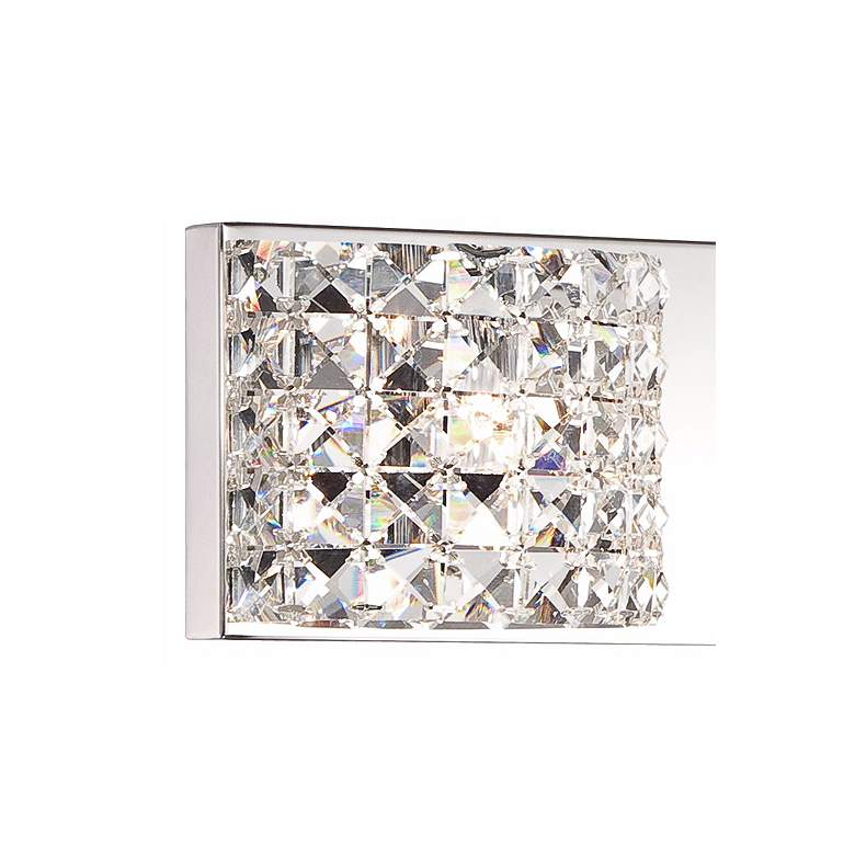 "Cesenna 35 1/2"" Wide Crystal 4-Light Bath Light more views"