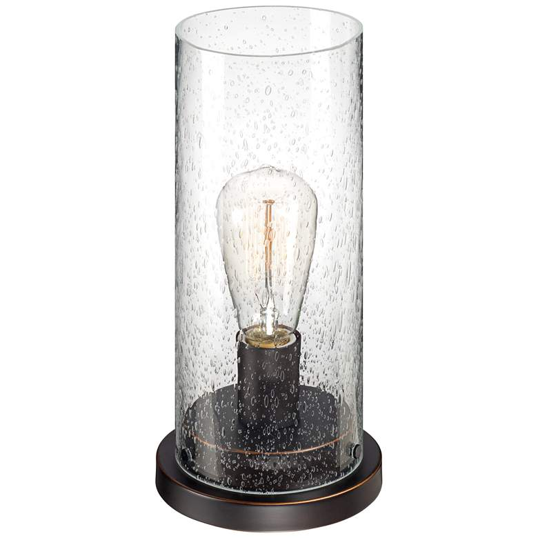 "Libby Seeded Glass 12"" High Edison Bulb Accent Lamp more views"