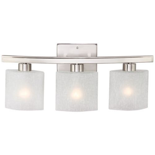 "Possini Euro Linen Glass 23 1/2""W Brushed Nickel Bath Light"