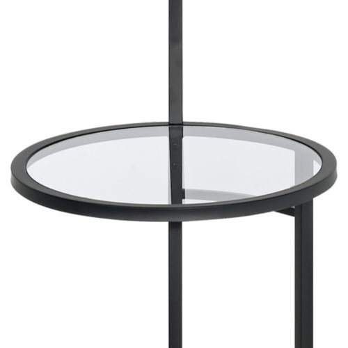 Space Saver Glass Tray Table Floor Lamp