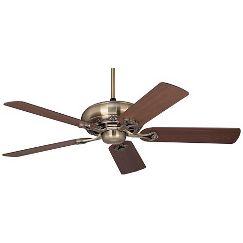 "52"" Casa Vieja® Trilogy™ Antique Brass Ceiling Fan"