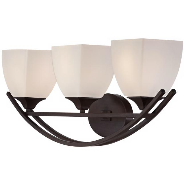 "Jenisen Arch 29"" Wide Bronze Bathroom Light"