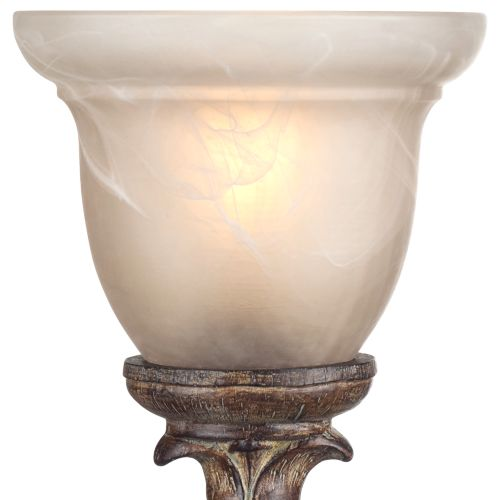 "French Candlestick Beige Wash 18"" High Accent Console Lamp"