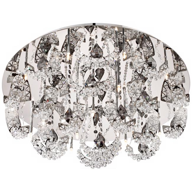 "Possini Euro Half Rings 25"" Wide Crystal Ceiling Light"