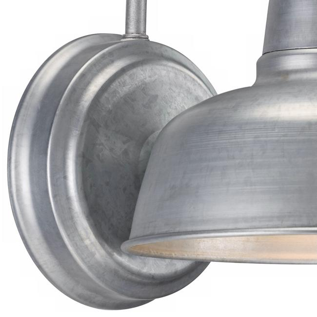 "Urban Barn 11 1/4"" High Galvanized Indoor-Outdoor Wall Light"