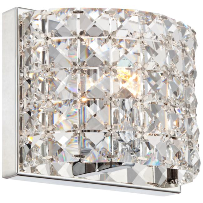 "Vienna Full Spectrum Cesenna 5"" High Crystal Wall Sconce"